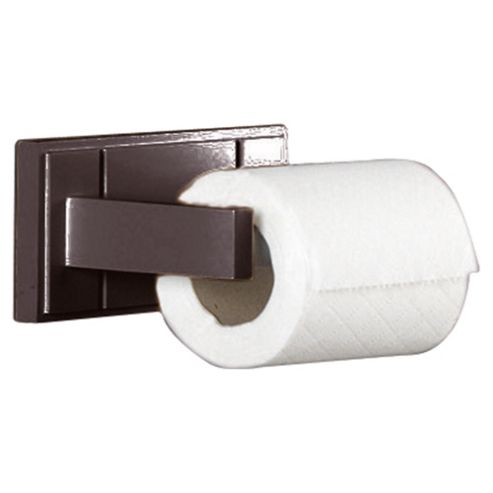 Croydex Toilet Roll Holder Dark Wood