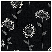 Arthouse Carmen floral black wallpaper