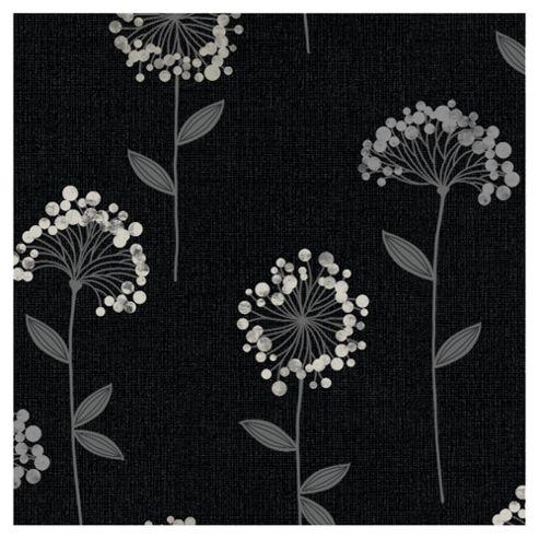 Arthouse Carmen floral black wallpaper