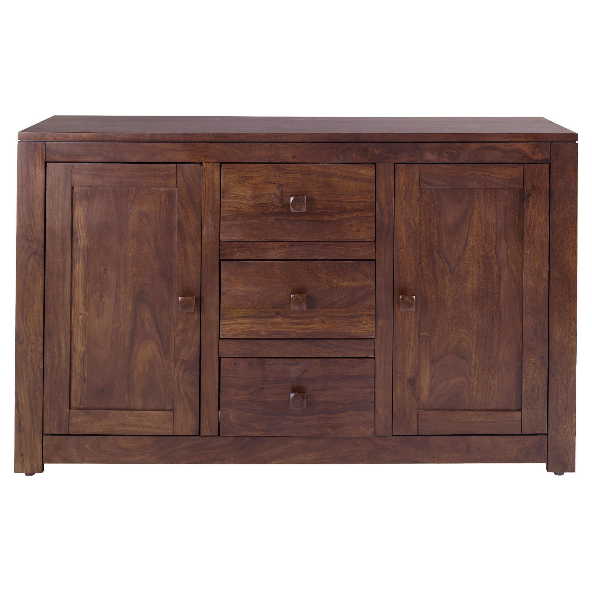 Tamarai 3 Drawer 2 Door Sideboard, Sheesham at Tesco Direct