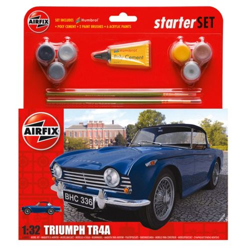 Airfix Triumph Tr4 1:72 Scale Cat 2 Gift Set