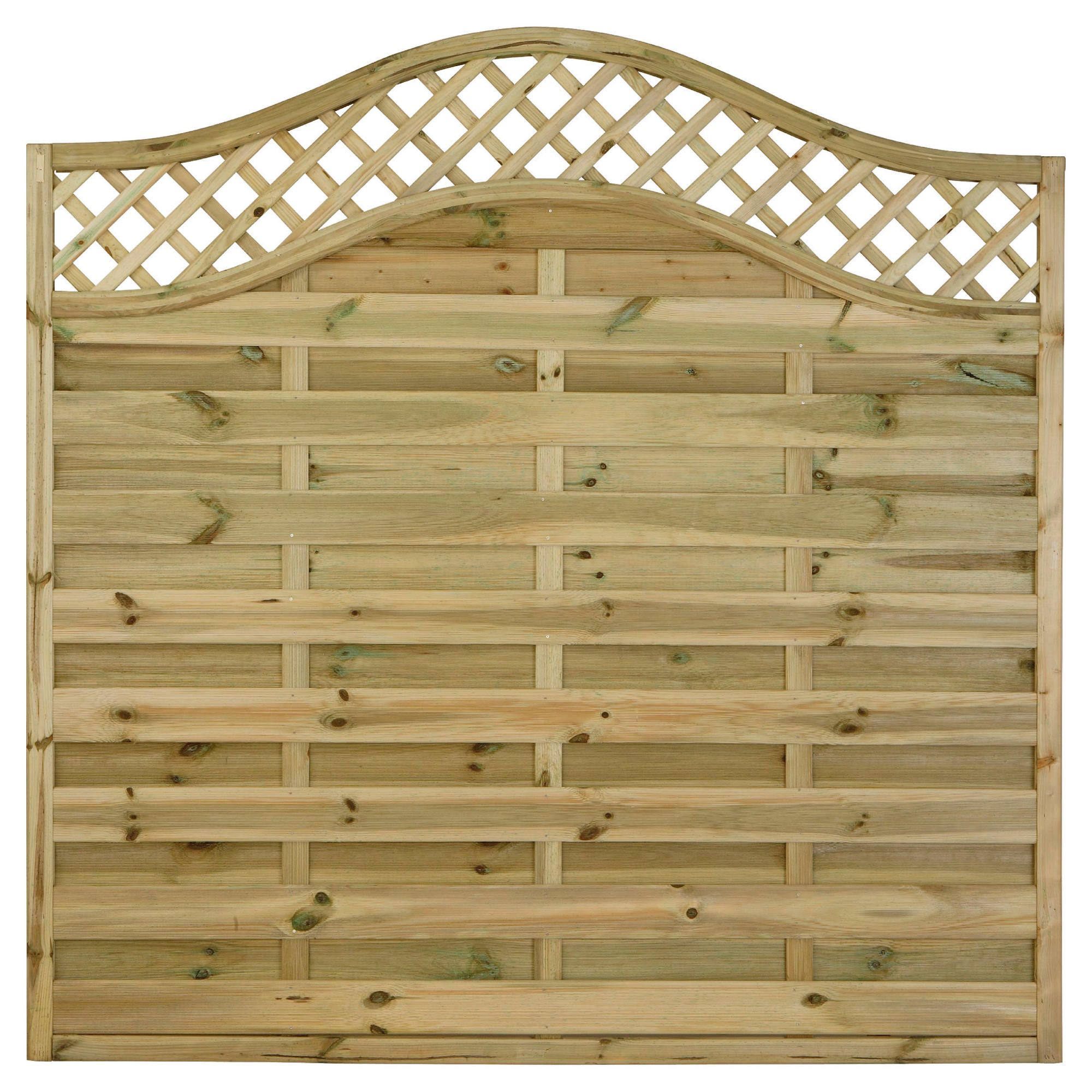 Timberdale 1.8mx1.8m Pembroke 5 Screen Pack with Posts and Fixing Brackets at Tesco Direct