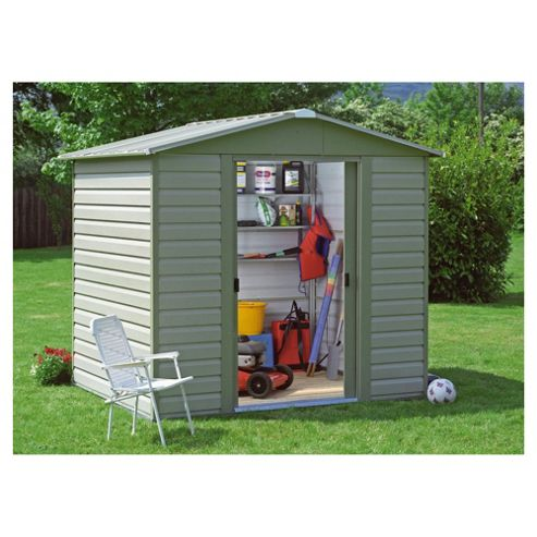 Buy yardmaster shiplap metal shed from our metal sheds for Garden shed tesco