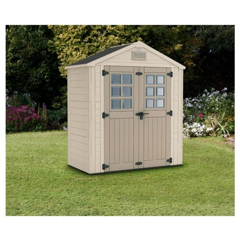 Buy keter horizon plastic apex shed from our plastic sheds for Garden shed tesco