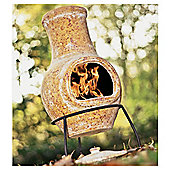 La Hacienda Small 65cm High Clay Chimenea - Hot Yellow