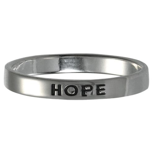 Sterling Silver Hope Stacking Ring, Small