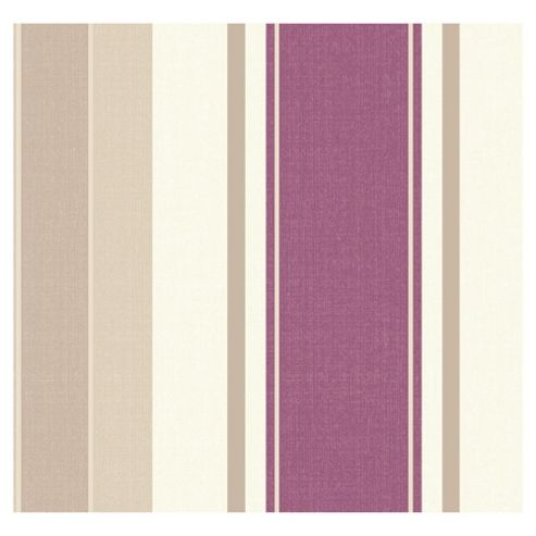 Arthouse Adelphi stripe plum wallpaper