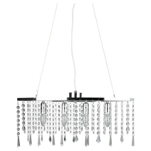 Tesco Lighting Angel Diner Bar, Clear Crystal