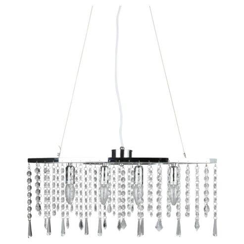 Tesco Lighting Angel Diner Bar, Clear Crystal