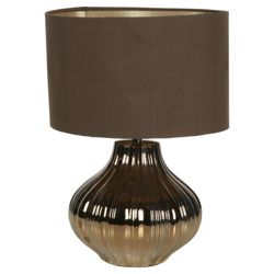Tesco Lighting Pumpkin Bronze Chocolate Table lamp