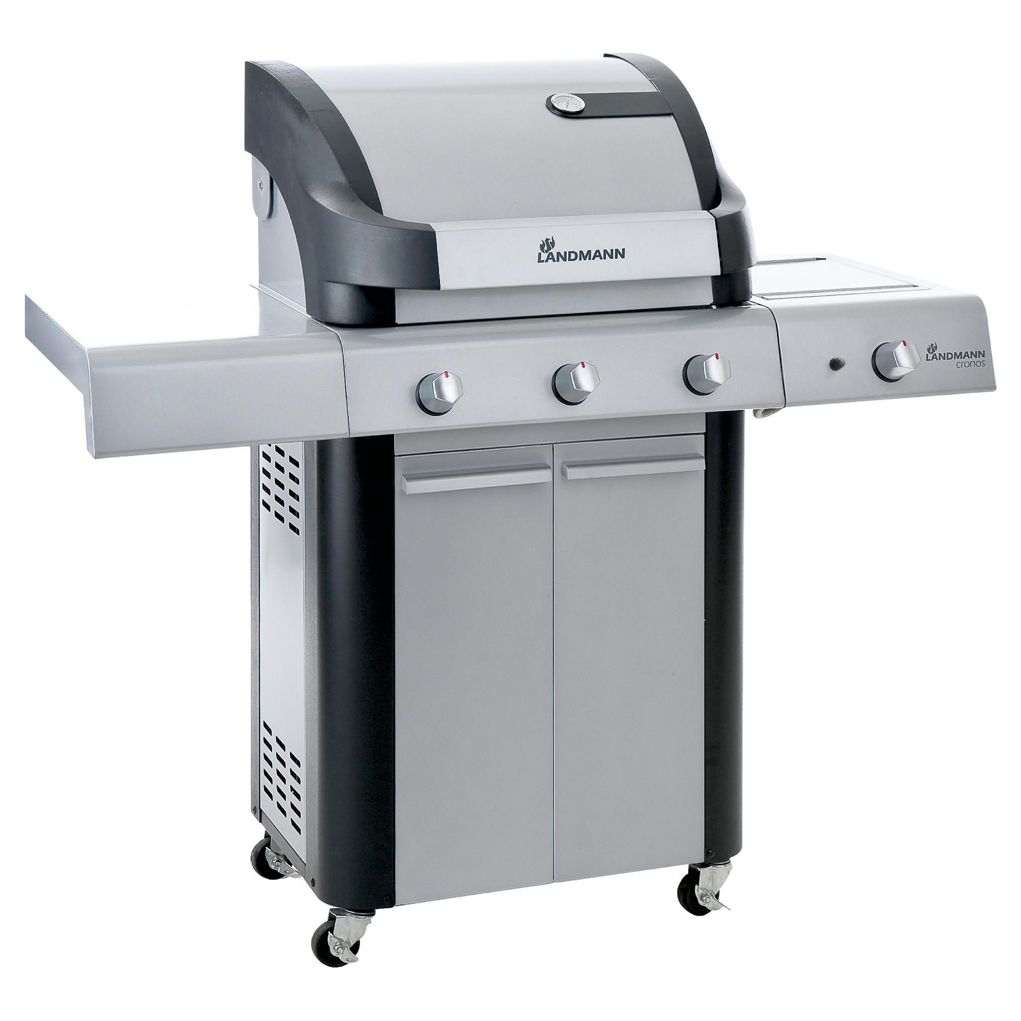 Cronos 3 Burner Gas BBQ with Side Burner & Cabinet at Tesco Direct