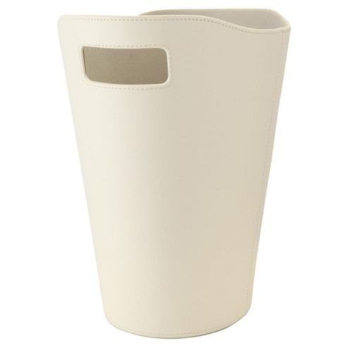 Tesco Leather Effect Bin, Cream