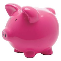 Present Time Moneybank Pig Ceramic pink