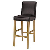 Banbury Barstool, Oak & Brown PU
