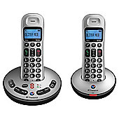 BT Freelance XT3500 Digital Cordless Twin Phone with Answer Machine - Silver