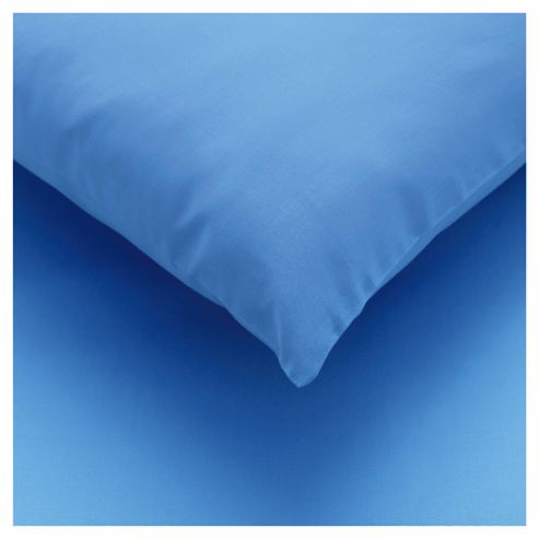 Tesco twin pack pillowcase - Sea Blue
