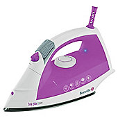 Breville VIN207 vertical steam feature Iron with Stainless Steel Plate - White/Pink