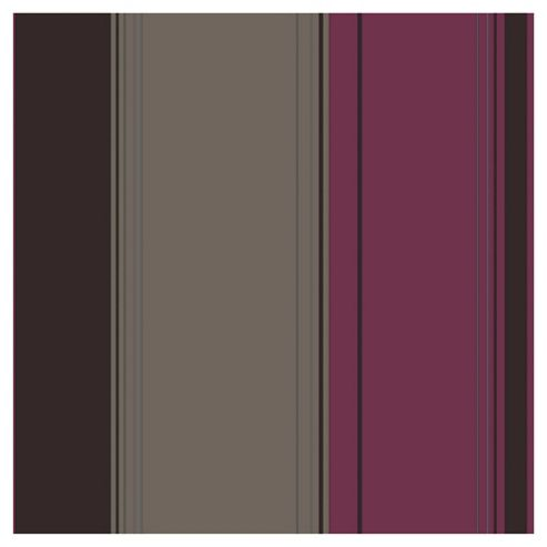 Arthouse Da Vinci stripe plum wallpaper