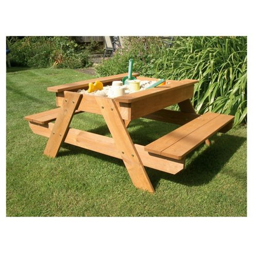 Plum Wooden Sand and Picnic Table