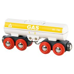 Brio Classic Accessory Fuel Tanker Wagon, wooden toy