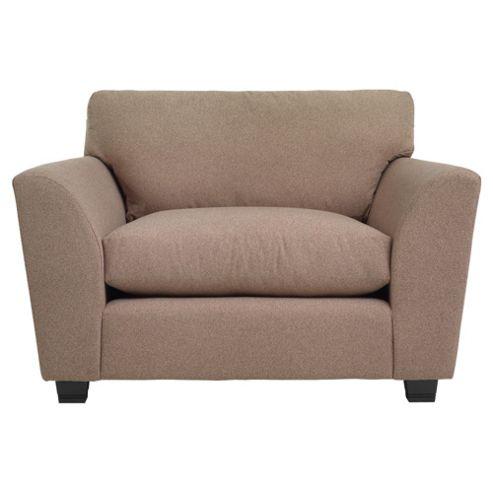 Eva Fabric Snuggler Chair, Plain Camel