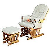 Tutti Bambini GC35 Reclinable Glider Chair & Stool Beech