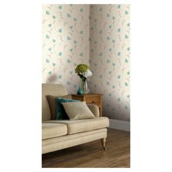 Arthouse Adelphi floral teal wallpaper