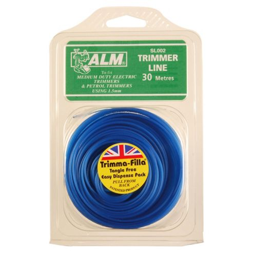 ALM Line For Electric & Petrol Grass Trimmers 1.5mm x 30m, 2 pack