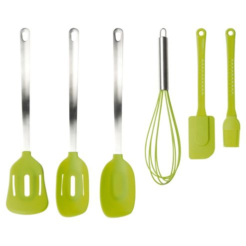 Taylors Eye Witness 6 piece Silicone Utensils Set, Lime