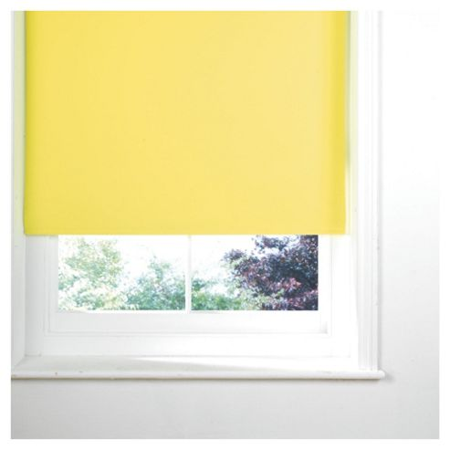Thermal Blackout Blind 90cm Lemon