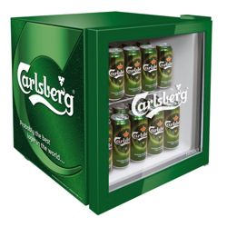 Husky EL181 Carlsberg Fridge, Capacity 49 Litres, Energy Rating A, Width 44.0cm. Green