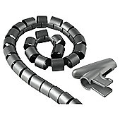 Hama Cable Bundle Tube Easy Cover - Silver 2.5m 20 mm