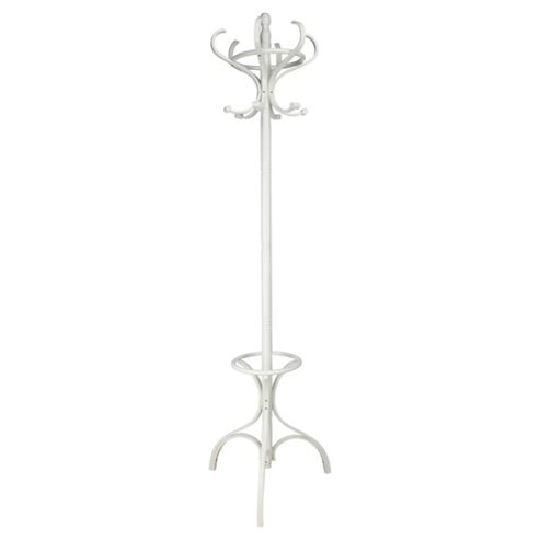 Traditional Bentwood coat stand white