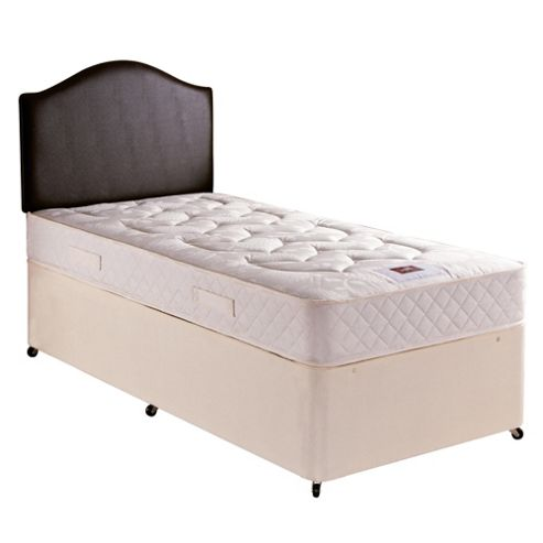 Buy airsprung single divan bed danbury luxury non for Single divan with mattress and storage