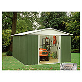 Yardmaster 9'4x12'8 Apex Metal Shed with floor support frame