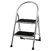 Abru 2 Tread chrome stepstool