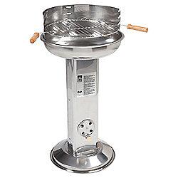 Landmann Stainless Steel Pedestal Charcoal BBQ, Silver