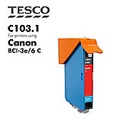 Tesco BCI3/6 Cyan Printer Ink Cartridge (Compatible with printers using Canon BCI-3/6 Cyan Printer Ink Cartridges)