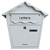 Am-tech Post Box - White S5551