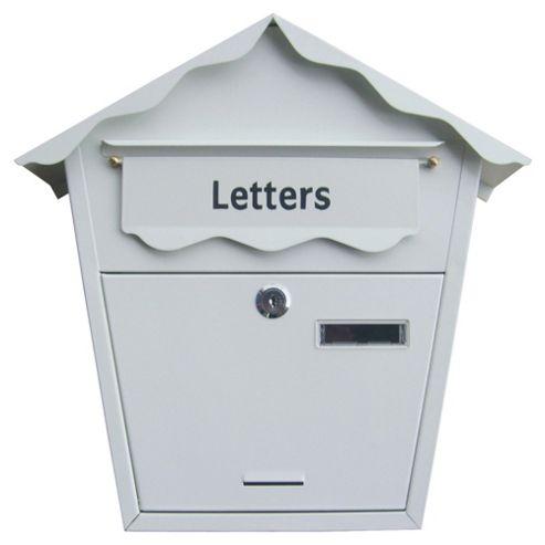 Am-tech Post Box - White S5551