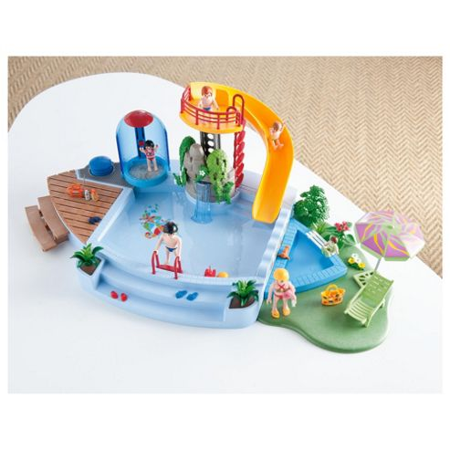 Buy Playmobil 4858 Pool With Water Slide Playset From Our Figures Playsets Range