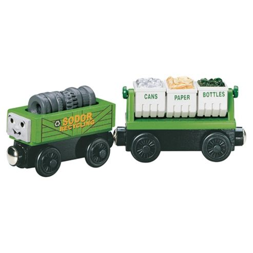 Tomy Recycling Cars Thomas Wooden Railway System Carriages