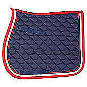 Cottage craft Dotty Saddlecloth Navy Pony
