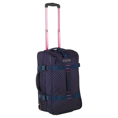 Jansport Footlocker 2-Wheel Duffle Bag Suitcase, Navy
