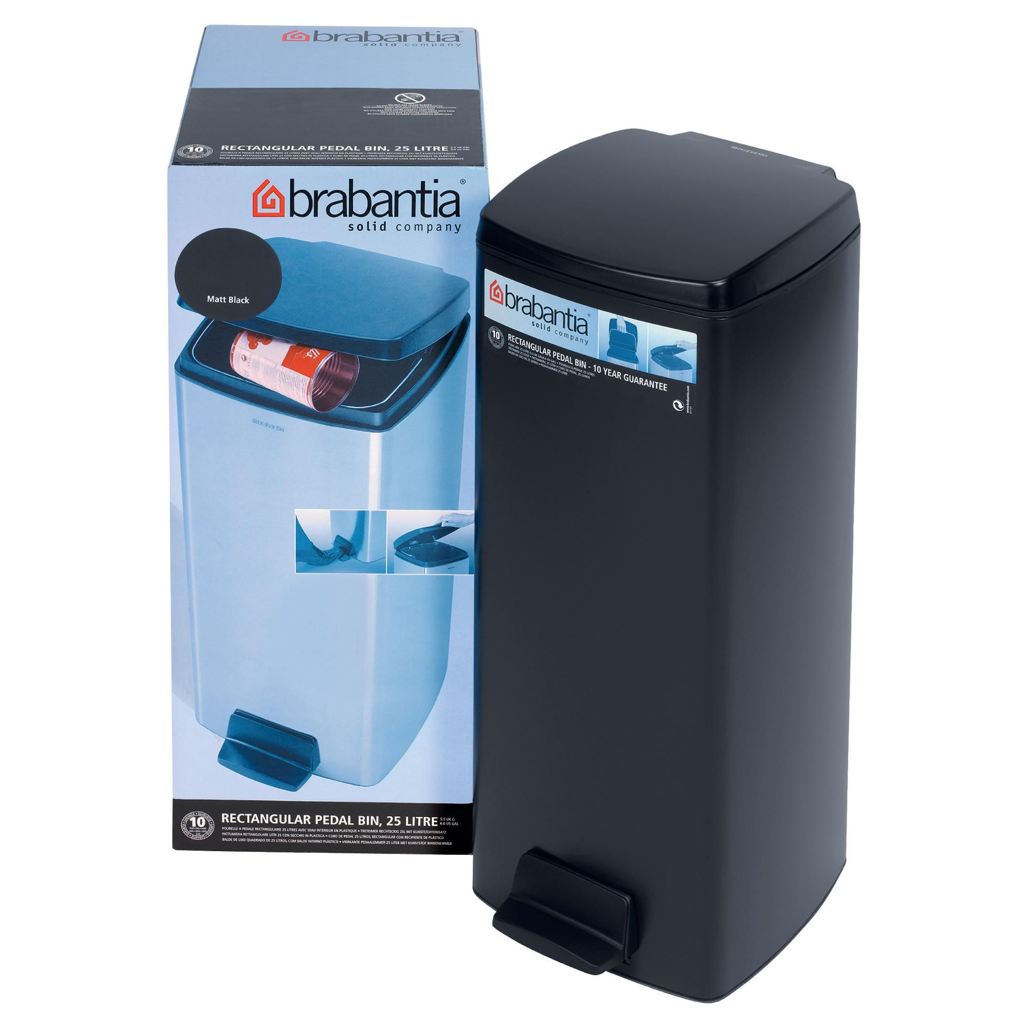brabantia 15 litre built in kitchen bin with inner plastic waste 2015 home design ideas. Black Bedroom Furniture Sets. Home Design Ideas