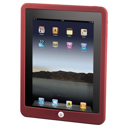 Hama Button Protect Silicon Cover for the new Apple iPad Red