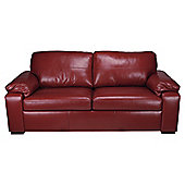 Ashmore Leather Sofa Bed, Red
