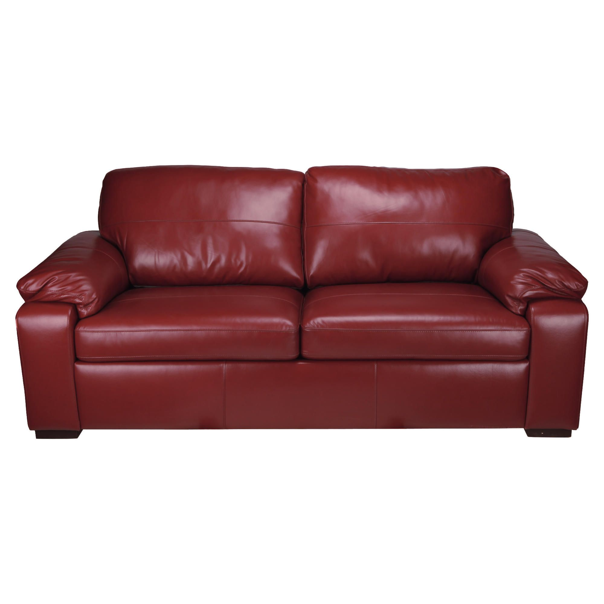 Ashmore Leather Sofa Bed, Red at Tesco Direct