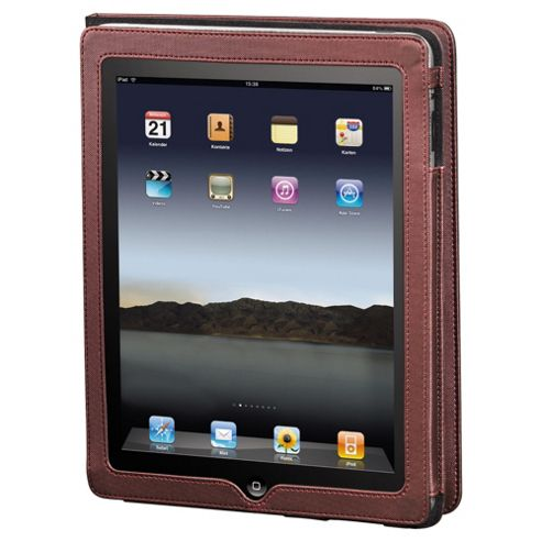 Hama Arezzo Portfolio Case for the new Apple iPad and iPad 2 Brown
