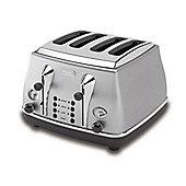 De'Longhi Icona CTO4003 4 Slice Toaster - Silver